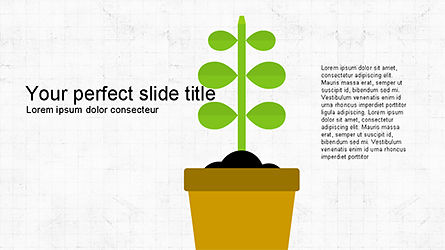 Plant Grow Presentation Template, 04299, Presentation Templates — PoweredTemplate.com