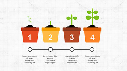 Plant Grow Presentation Template, Slide 6, 04299, Presentation Templates — PoweredTemplate.com