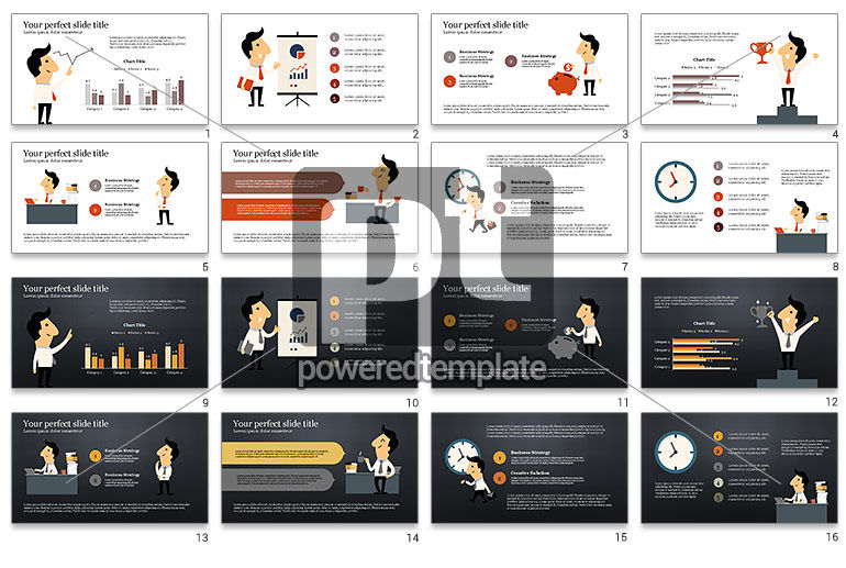 Funny Illustrative Presentation Template with Character