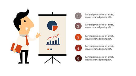 Funny Illustrative Presentation Template with Character Slide 2