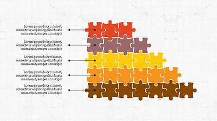 Puzzle Pieces Presentation Template, 04305, Puzzle Diagrams — PoweredTemplate.com