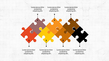 Puzzle Pieces Presentation Template, Slide 3, 04305, Puzzle Diagrams — PoweredTemplate.com