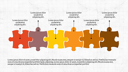 Puzzle Pieces Presentation Template, Slide 4, 04305, Puzzle Diagrams — PoweredTemplate.com