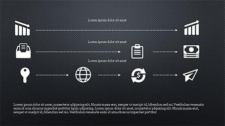 Monochrome Flat Icons and Process, Slide 13, 04311, Icons — PoweredTemplate.com