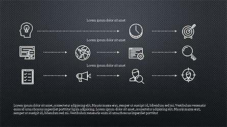 Monochrome Flat Icons and Process, Slide 15, 04311, Icons — PoweredTemplate.com