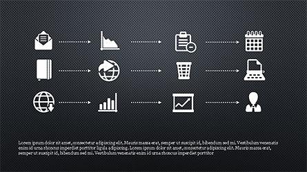 Monochrome Flat Icons and Process, Slide 16, 04311, Icons — PoweredTemplate.com