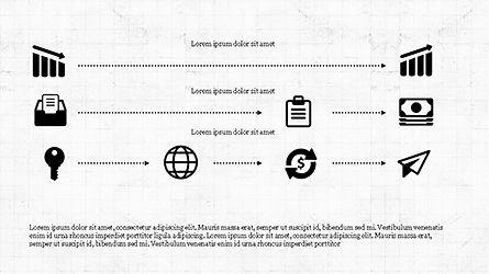 Monochrome Flat Icons and Process, Slide 5, 04311, Icons — PoweredTemplate.com