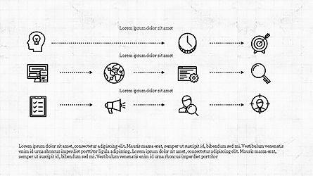 Monochrome Flat Icons and Process, Slide 7, 04311, Icons — PoweredTemplate.com