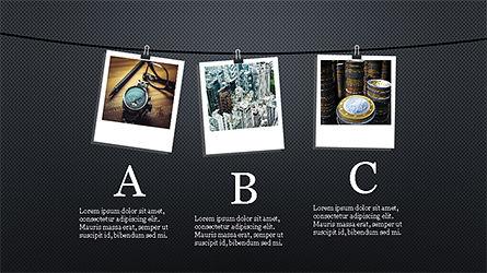 Presentation with Polaroid Photos, Slide 10, 04313, Presentation Templates — PoweredTemplate.com