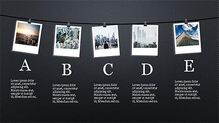 Presentation with Polaroid Photos, Slide 12, 04313, Presentation Templates — PoweredTemplate.com