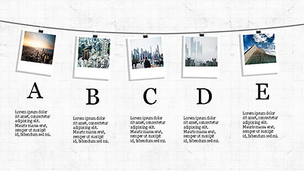 Presentation with Polaroid Photos, Slide 6, 04313, Presentation Templates — PoweredTemplate.com
