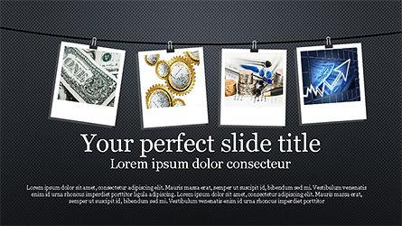 Presentation with Polaroid Photos, Slide 7, 04313, Presentation Templates — PoweredTemplate.com