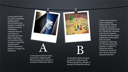 Presentation with Polaroid Photos, Slide 8, 04313, Presentation Templates — PoweredTemplate.com
