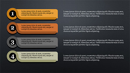 Agenda with Numbers Presentation Template, Slide 16, 04314, Stage Diagrams — PoweredTemplate.com