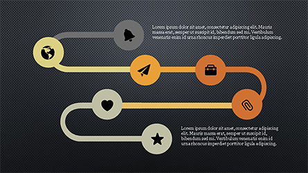 Process with Checkpoints Presentation Template, Slide 9, 04316, Presentation Templates — PoweredTemplate.com