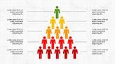 Infographics: Infografia de pirâmide humana #04318