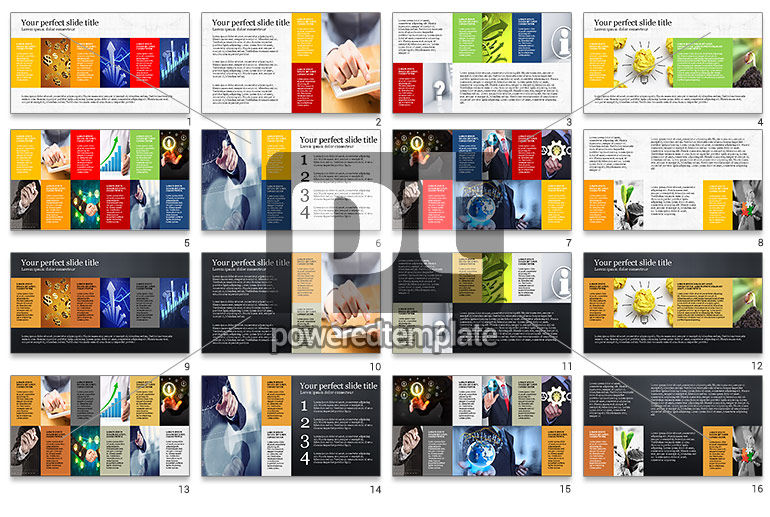 Brochure Style Grid Layout Presentation Template