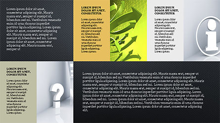Brochure Style Grid Layout Presentation Template, Slide 11, 04319, Presentation Templates — PoweredTemplate.com