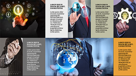 Brochure Style Grid Layout Presentation Template, Slide 15, 04319, Presentation Templates — PoweredTemplate.com