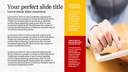 Brochure Style Grid Layout Presentation Template, Slide 2, 04319, Presentation Templates — PoweredTemplate.com