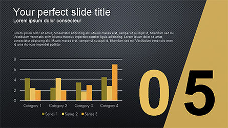Presentation with Numbered Slides, Slide 13, 04321, Presentation Templates — PoweredTemplate.com