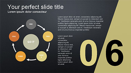 Presentation with Numbered Slides, Slide 14, 04321, Presentation Templates — PoweredTemplate.com