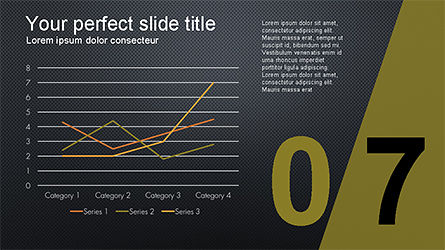 Presentation with Numbered Slides, Slide 15, 04321, Presentation Templates — PoweredTemplate.com