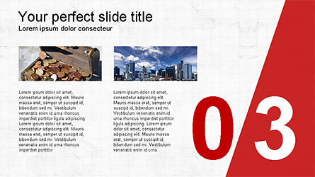 Presentation with Numbered Slides, Slide 3, 04321, Presentation Templates — PoweredTemplate.com