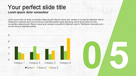 Presentation with Numbered Slides, Slide 5, 04321, Presentation Templates — PoweredTemplate.com