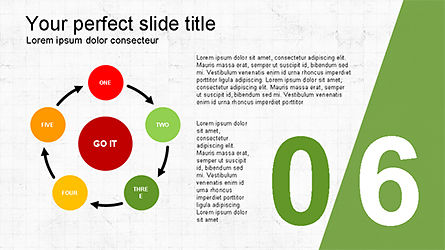 Presentation with Numbered Slides, Slide 6, 04321, Presentation Templates — PoweredTemplate.com