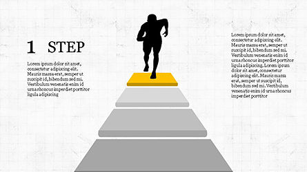 Runner and Stages Diagram, 04323, Stage Diagrams — PoweredTemplate.com