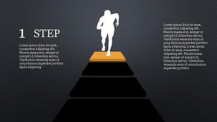 Runner and Stages Diagram, Slide 11, 04323, Stage Diagrams — PoweredTemplate.com