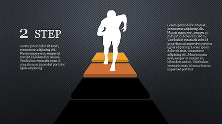 Runner and Stages Diagram, Slide 12, 04323, Stage Diagrams — PoweredTemplate.com