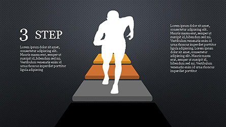Runner and Stages Diagram, Slide 13, 04323, Stage Diagrams — PoweredTemplate.com