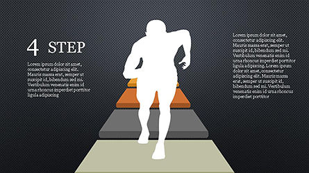 Runner and Stages Diagram, Slide 14, 04323, Stage Diagrams — PoweredTemplate.com