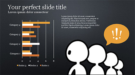 Presentation Template with Stick Man Figure, Slide 11, 04325, Data Driven Diagrams and Charts — PoweredTemplate.com