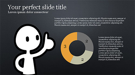 Presentation Template with Stick Man Figure, Slide 14, 04325, Data Driven Diagrams and Charts — PoweredTemplate.com