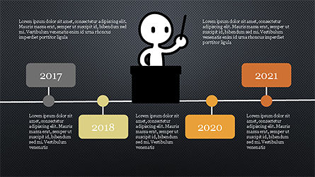 Presentation Template with Stick Man Figure, Slide 15, 04325, Data Driven Diagrams and Charts — PoweredTemplate.com