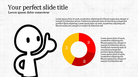 Presentation Template with Stick Man Figure, Slide 6, 04325, Data Driven Diagrams and Charts — PoweredTemplate.com