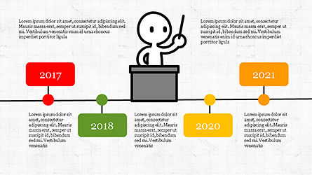 Presentation Template with Stick Man Figure, Slide 7, 04325, Data Driven Diagrams and Charts — PoweredTemplate.com