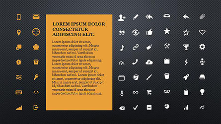 Icons and Text Boxes, Slide 10, 04327, Icons — PoweredTemplate.com