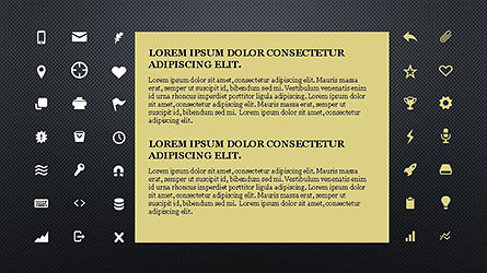 Icons and Text Boxes, Slide 14, 04327, Icons — PoweredTemplate.com