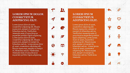 Icons and Text Boxes, Slide 4, 04327, Icons — PoweredTemplate.com