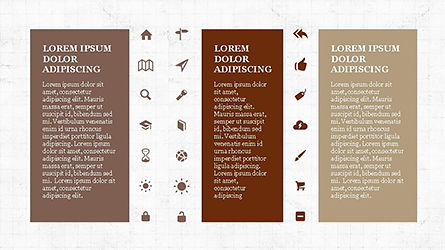 Icons and Text Boxes, Slide 7, 04327, Icons — PoweredTemplate.com