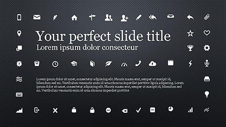 Icons and Text Boxes, Slide 9, 04327, Icons — PoweredTemplate.com