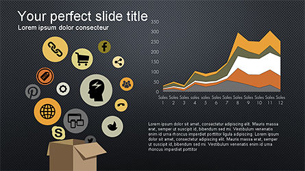 Search and Analysis Presentation Concept, Slide 15, 04329, Icons — PoweredTemplate.com