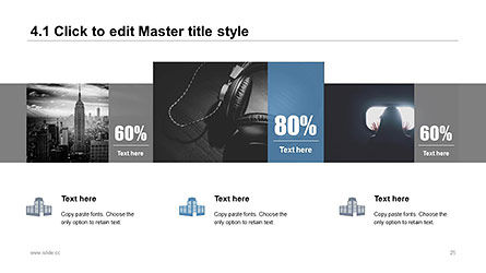Plain and Clean Style Business Presentation Template, Slide 25, 04332, Presentation Templates — PoweredTemplate.com