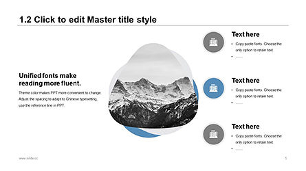 Plain and Clean Style Business Presentation Template, Slide 5, 04332, Presentation Templates — PoweredTemplate.com