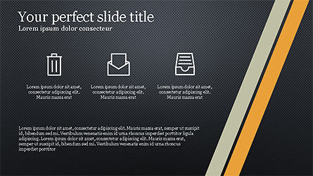 Stages and Tilted Stripes Presentation Template, Slide 11, 04335, Stage Diagrams — PoweredTemplate.com