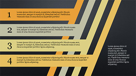 Stages and Tilted Stripes Presentation Template, Slide 12, 04335, Stage Diagrams — PoweredTemplate.com